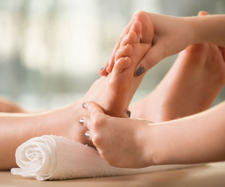 Fussreflexzonen-Massage Methode